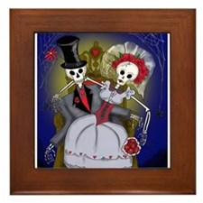 Muertos Bride and Groom Framed Tile