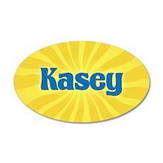 Kasey Sunburst 20x12 Oval Wall Decal