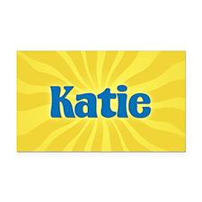 Katie Sunburst Retangular Car Magnet