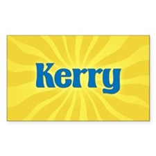 Kerry Sunburst Rectangle Decal