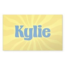 Kylie Sunburst Oval Decal