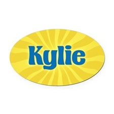 Kylie Sunburst Oval Car Magnet