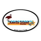 Amelia Island - Beach Design. Decal