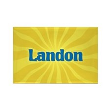 Landon Sunburst Rectangle Magnet