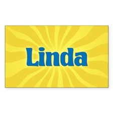 Linda Sunburst Rectangle Decal