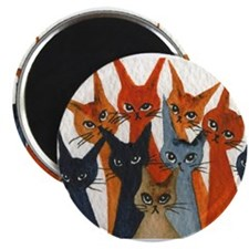 Cute Cats whimsical Magnet