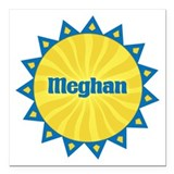 Meghan Sunburst Square Car Magnet