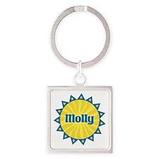 Molly Sunburst Square Keychain