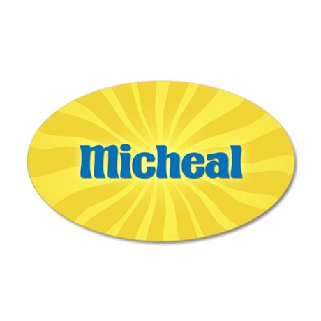 Micheal Sunburst 20x12 Oval Wall Decal