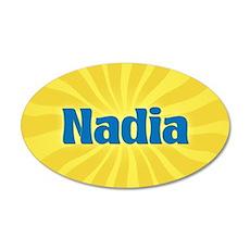 Nadia Sunburst 35x21 Oval Wall Decal