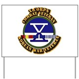 Army - X Corps w Korean Svc Yard Sign