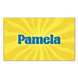 Pamela Sunburst Rectangle Decal