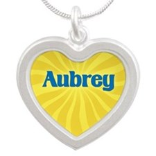 Aubrey Sunburst Silver Heart Necklace