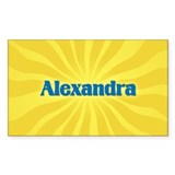 Alexandra Sunburst Rectangle Decal