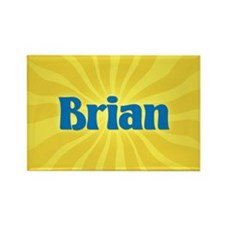 Brian Sunburst Rectangle Magnet