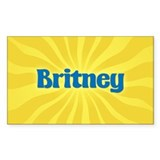 Britney Sunburst Oval Decal