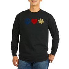 Peace Love Paw Print T