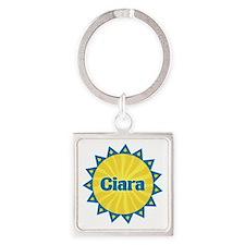 Ciara Sunburst Square Keychain
