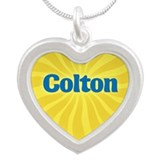 Colton Sunburst Silver Heart Necklace