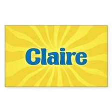 Claire Sunburst Oval Decal