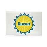 Devon Sunburst Rectangle Magnet