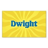 Dwight Sunburst Rectangle Decal