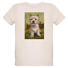 Westie Spring by Carol Wells Organic Kids T-Shirt
