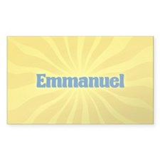 Emmanuel Sunburst Rectangle Decal