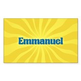 Emmanuel Sunburst Oval Decal