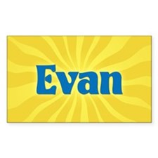 Evan Sunburst Oval Decal