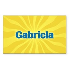 Gabriela Sunburst Rectangle Decal