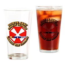 Army - 8th Army w Korean Svc Drinking Glass