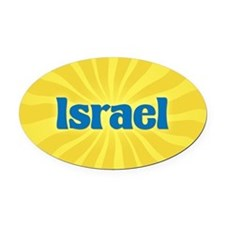 Israel Sunburst Oval Car Magnet