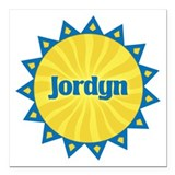 Jordyn Sunburst Square Car Magnet