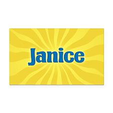 Janice Sunburst Retangular Car Magnet