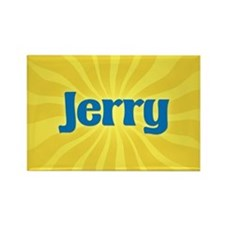 Jerry Sunburst Rectangle Magnet