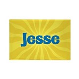 Jesse Sunburst Rectangle Magnet