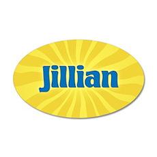 Jillian Sunburst 20x12 Oval Wall Decal
