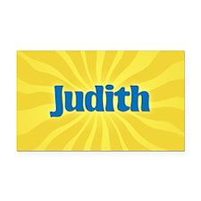 Judith Sunburst Retangular Car Magnet