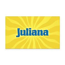 Juliana Sunburst Retangular Car Magnet