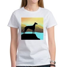 greyhound by the sea sq T-Shirt