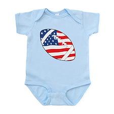 US Flag Football Infant Bodysuit