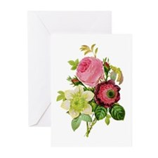 Pierre-Joseph Redoute Rose Greeting Cards (Pk of 1