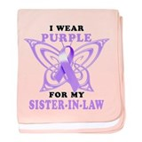 I Wear Purple for my Sister in Law.png baby blanke