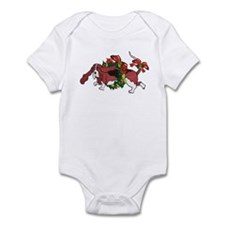 Whimsy Basset in Wreaths Infant Bodysuit