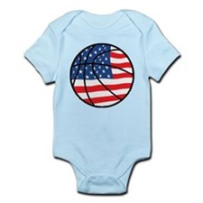 US Flag Basketball Infant Bodysuit