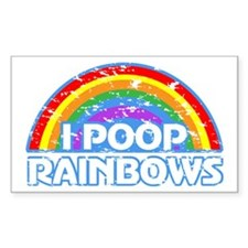 I Poop Rainbows Decal