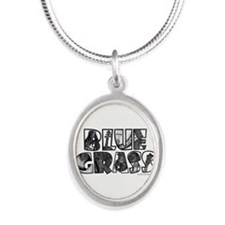Bluegrass Silver Oval Necklace