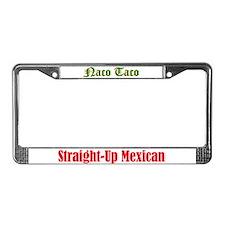 Naco Taco License Plate Frame