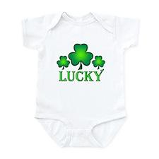 3 Lucky Irish Shamrocks Onesie